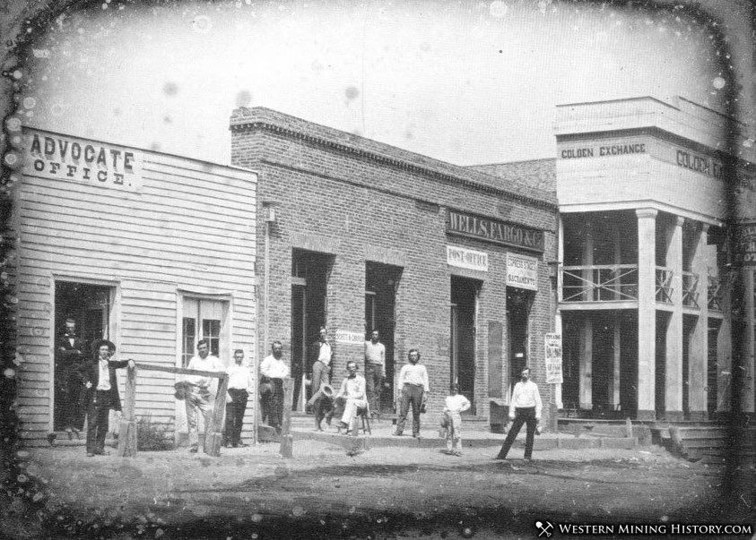Early view of Diamond Springs, California