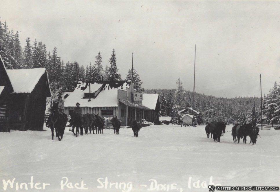 1930s pack trains at Dixie, Idaho