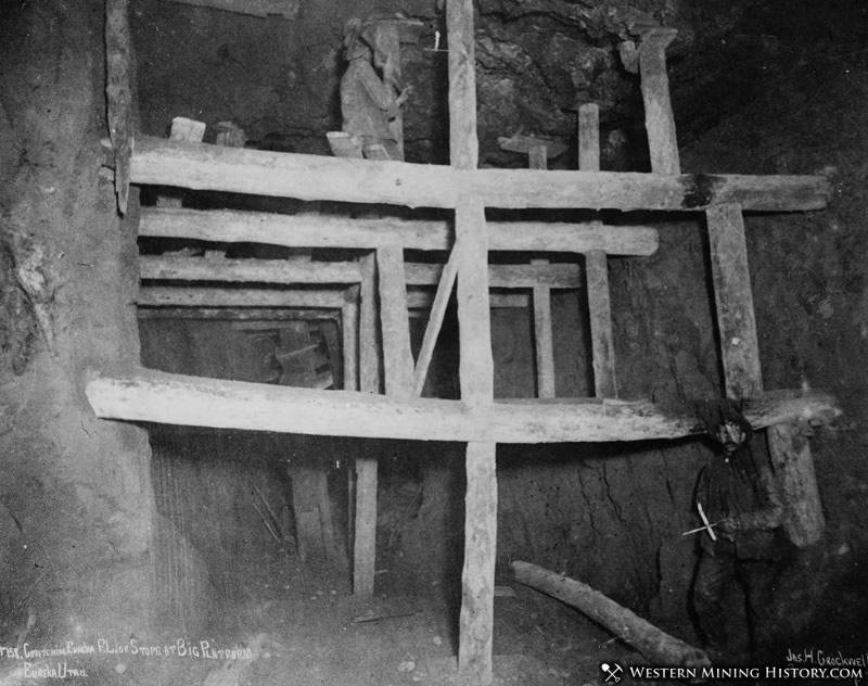 Timbering in the Centennial Eureka Mine