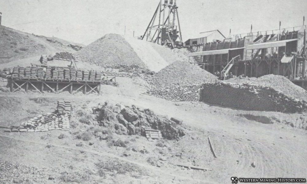 Ore is stacked at a Fairview mine waiting to be shipped by wagon