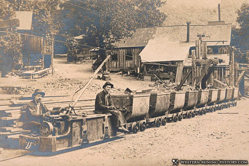 Ore train at the Gladstone Mine near French Gulch