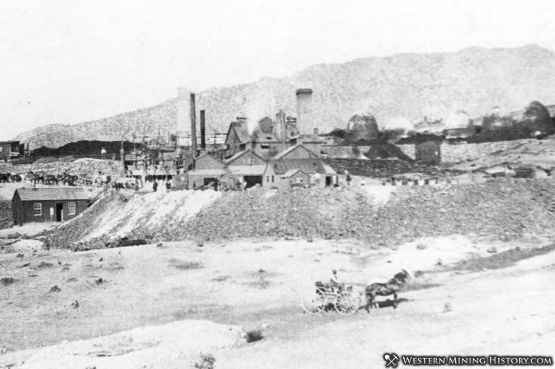 Smelter and charcoal kilns at Frisco Utah 1883