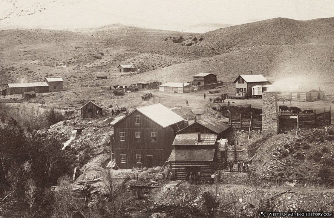 Early view of Glendale Montana ca. 1875