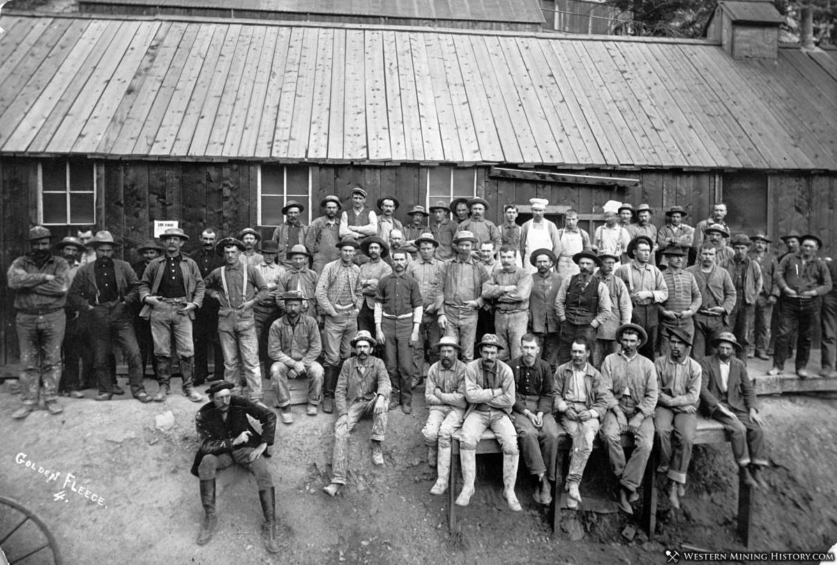 Miners at the Golden Fleece Mine near Lake City, Colorado