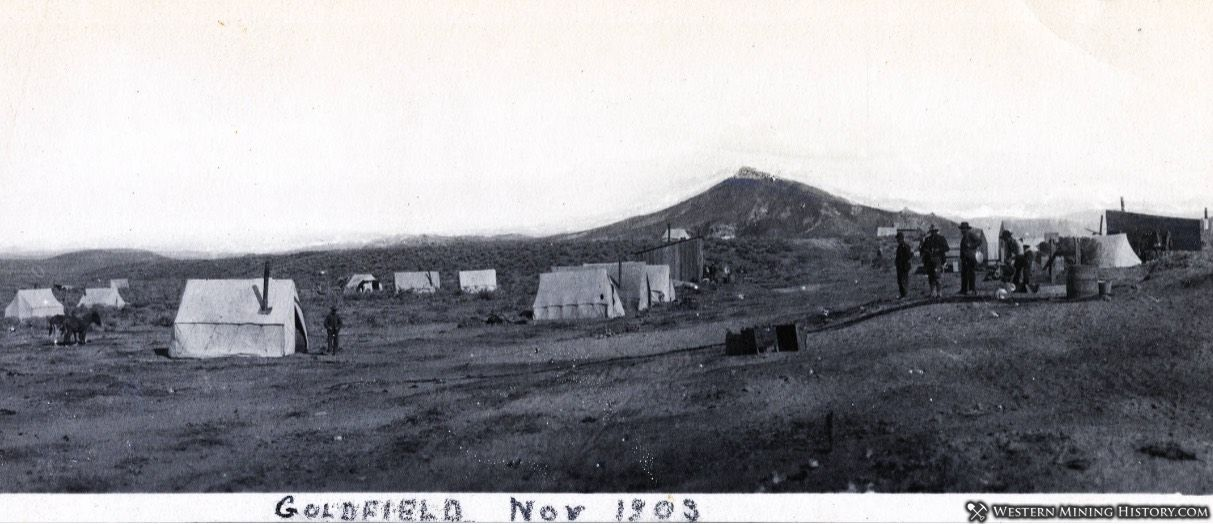 The early settlement of Goldfield Nevada in 1903