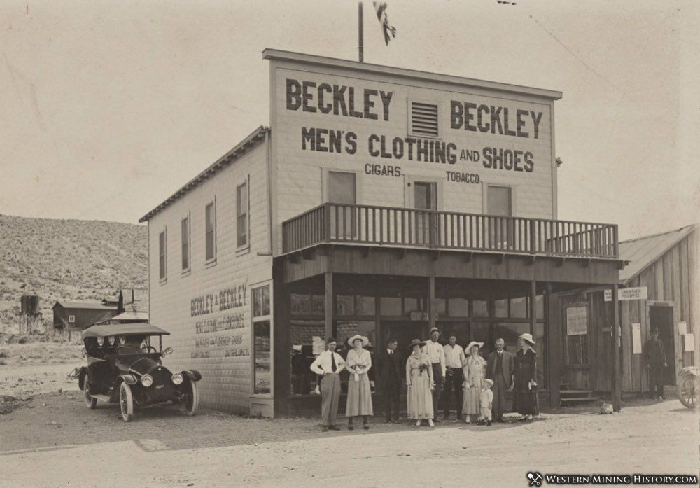 Beckleys in front of their store - Goodsprings Nevada 1918