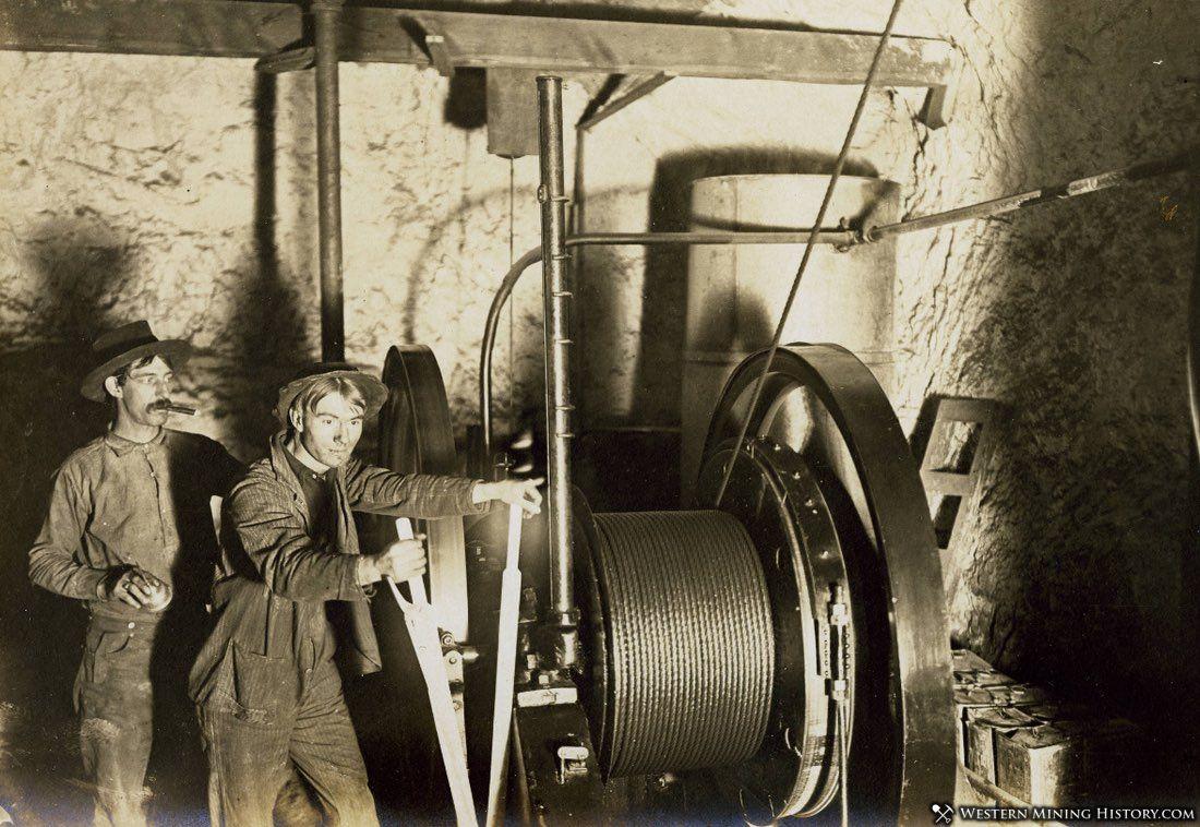 Hoist operator at the Keystone Mine - Goodsprings Nevada 1910