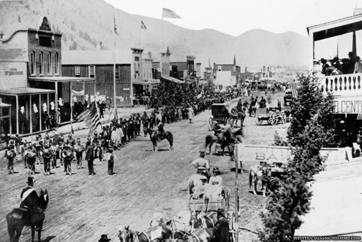 Fourth of July Parade - Hailey, Idaho 1883