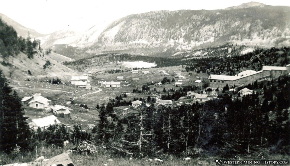 Hecla townsite and mill post 1900