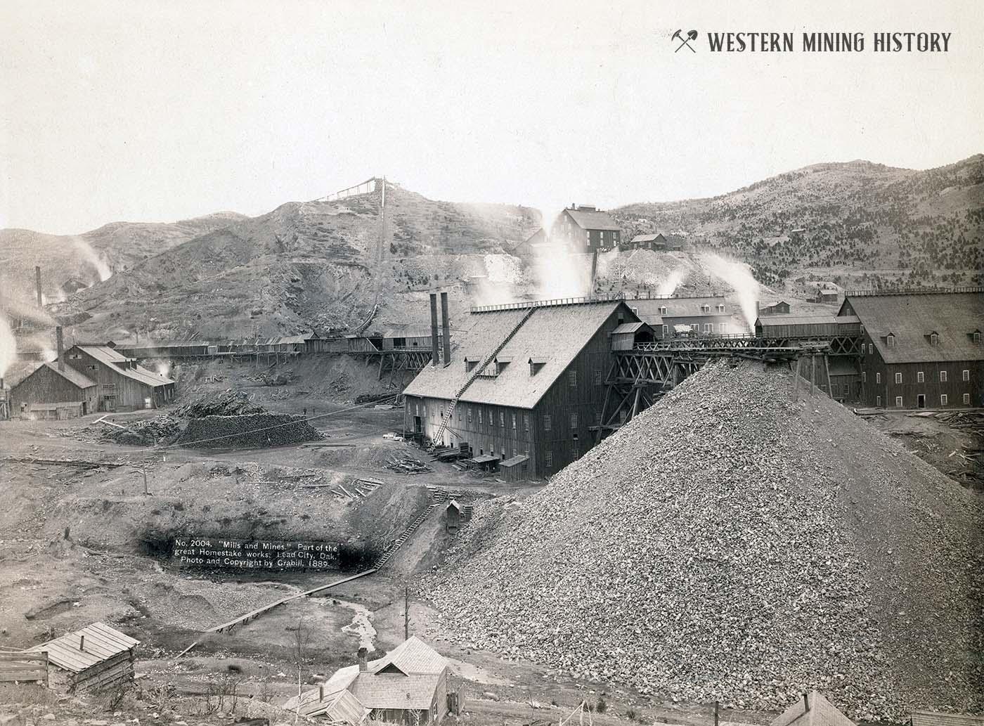 Homestake mine and mill at Lead, South Dakota 1889