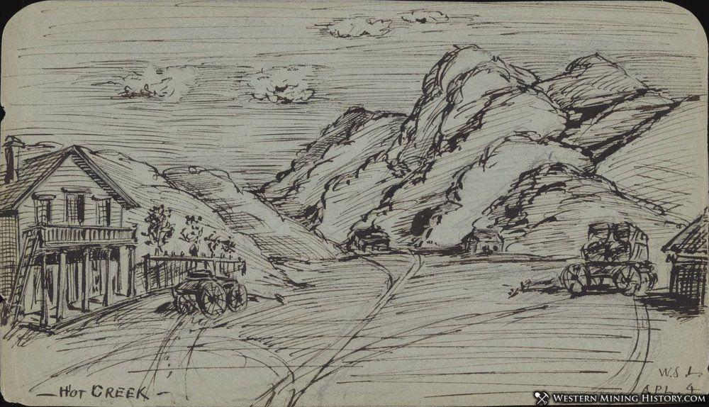 1879 Sketch of Hot Creek Nevada
