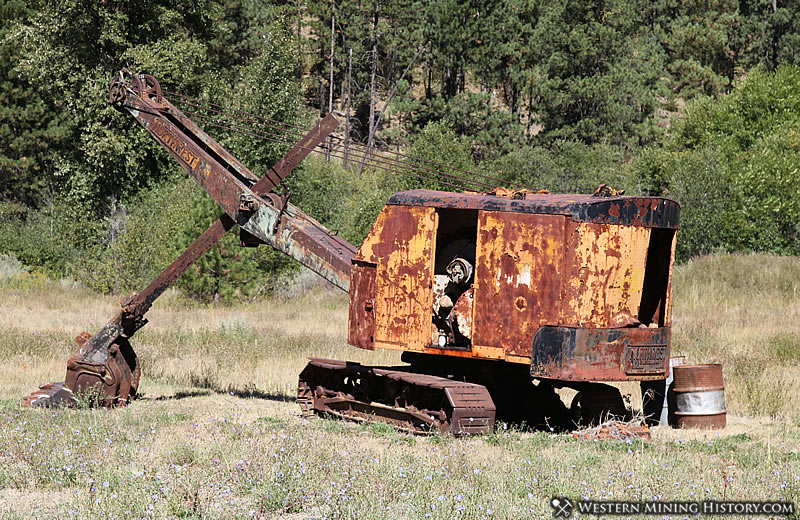 Abandoned equipment is all that is left of Liberty's placer mining legacy