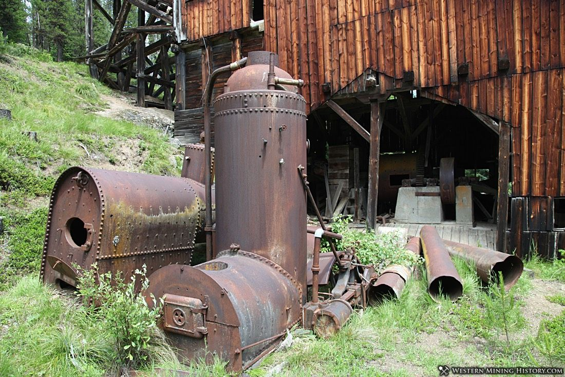 Wood-fired boilers at the Gold Point Mill