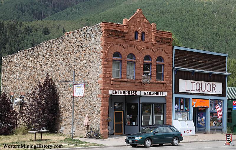 Historic commercial buildings at Rico Colorado
