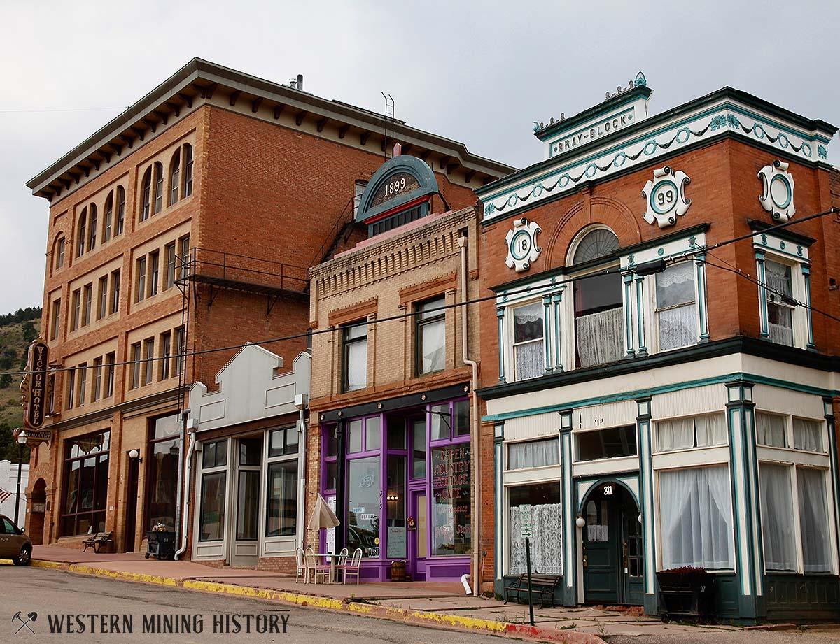 Historic buildings at Victor Colorado