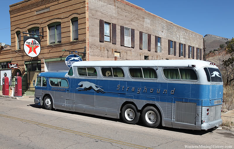 Vintage bus at Lowell Arizona
