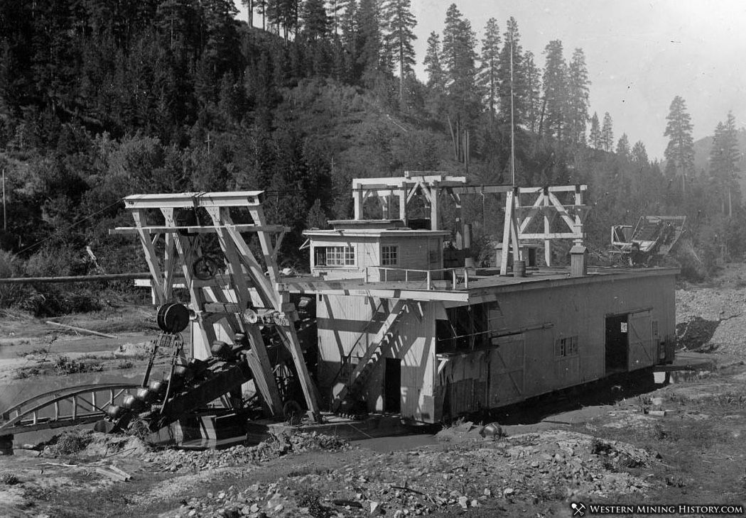 Boston and Idaho Dredge - Idaho City 1914