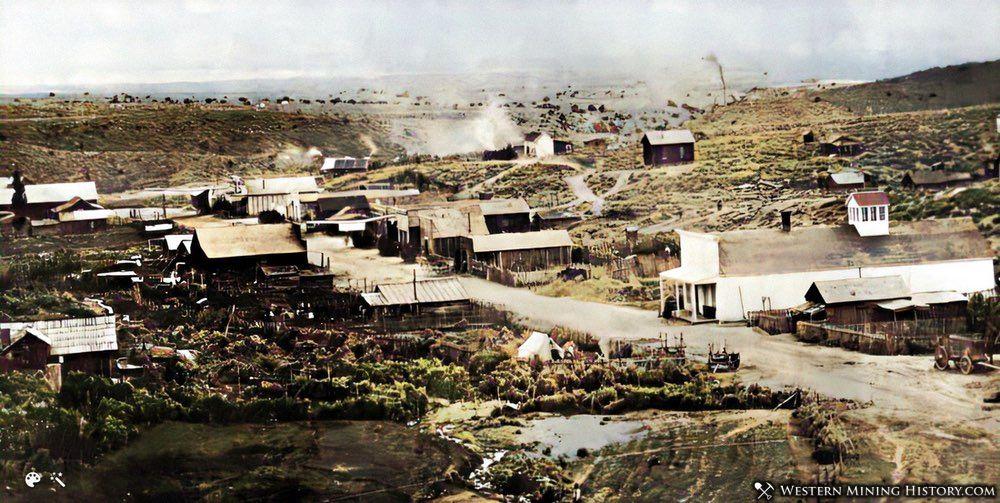 Ione Nevada ca. 1900 - enhanced photo