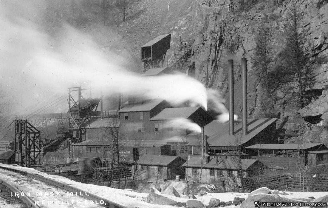 Iron Mask Mill - Red Cliff, Colorado ca. 1900