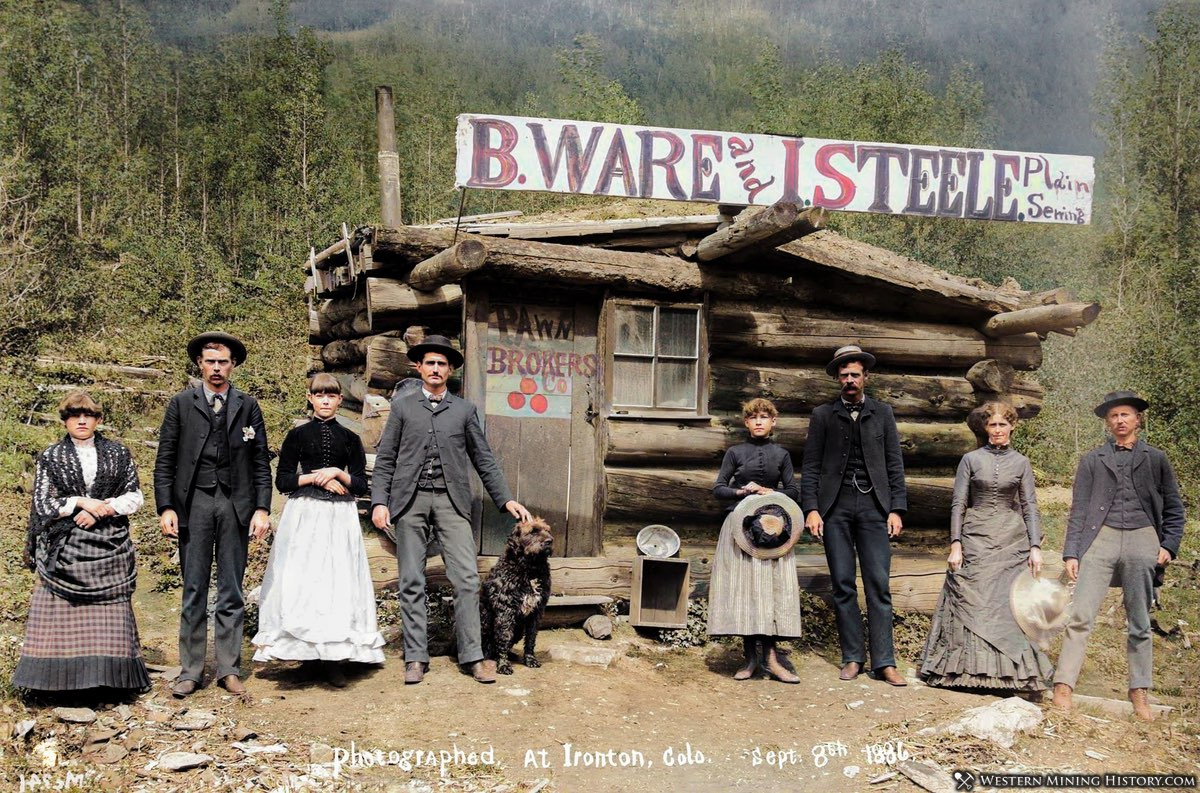 Ironton pawn brokers in color 1886