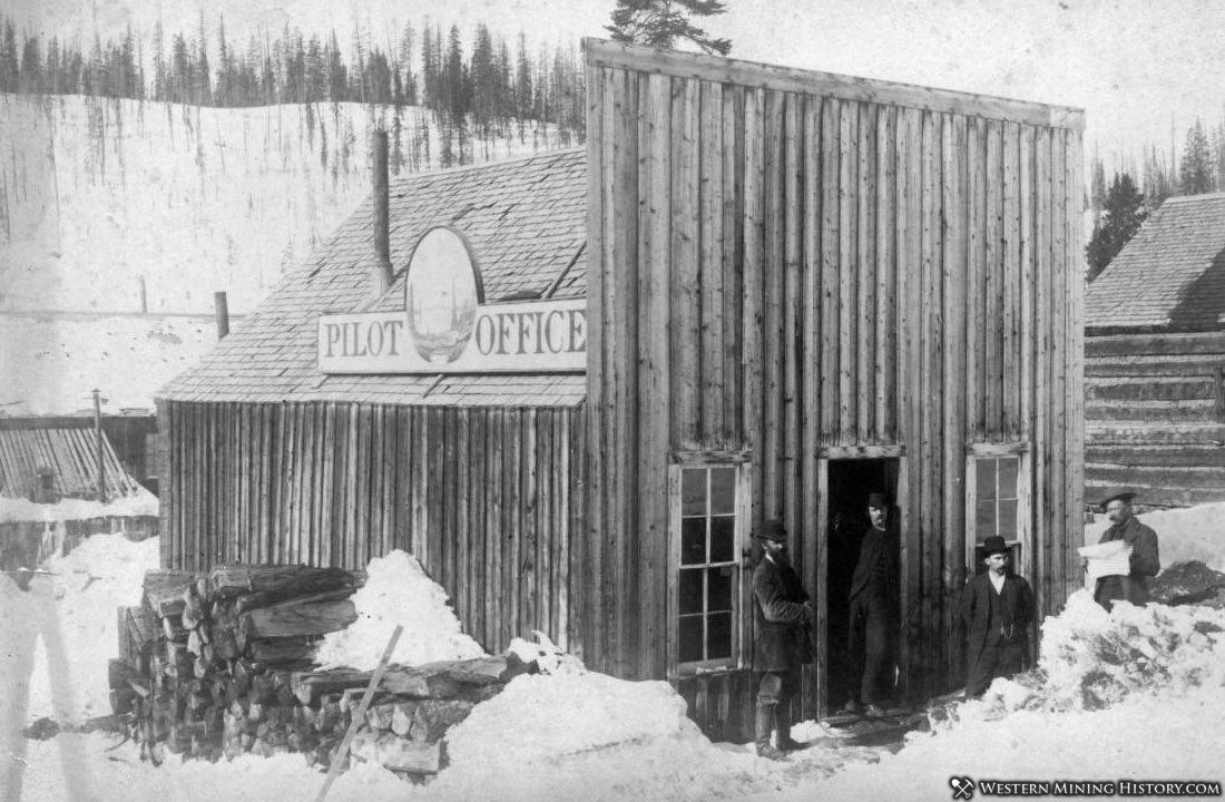 Office of the Elk Mountain Pilot - Irwin Colorado 1883
