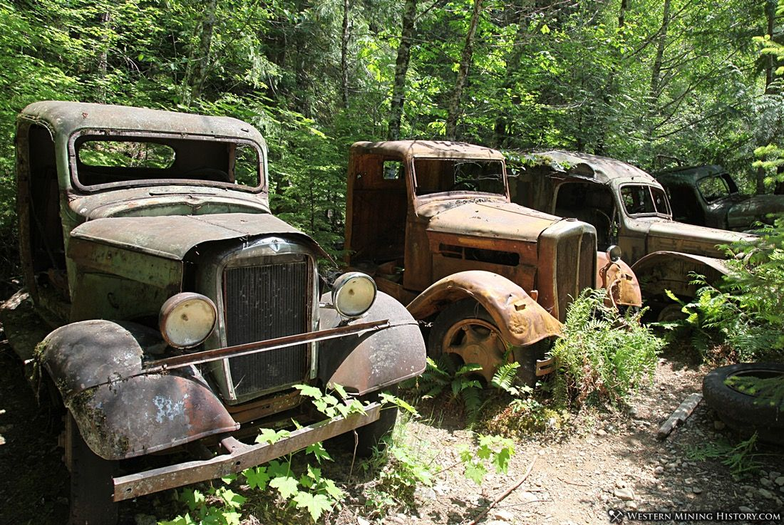 Old trucks at Jawbone Flats