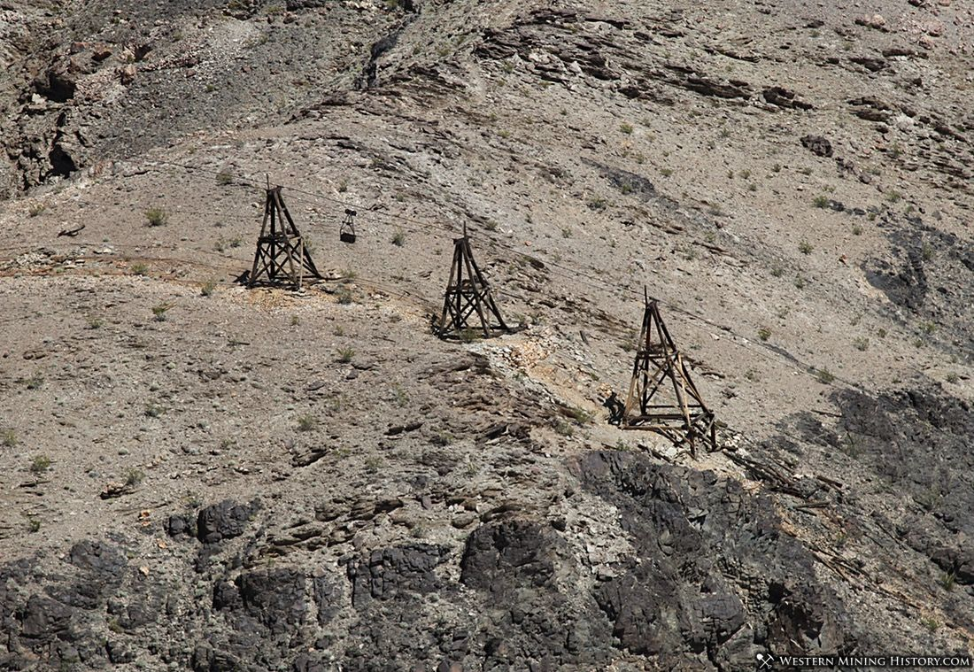 Aerial tram towers at the Keane Wonder Mine