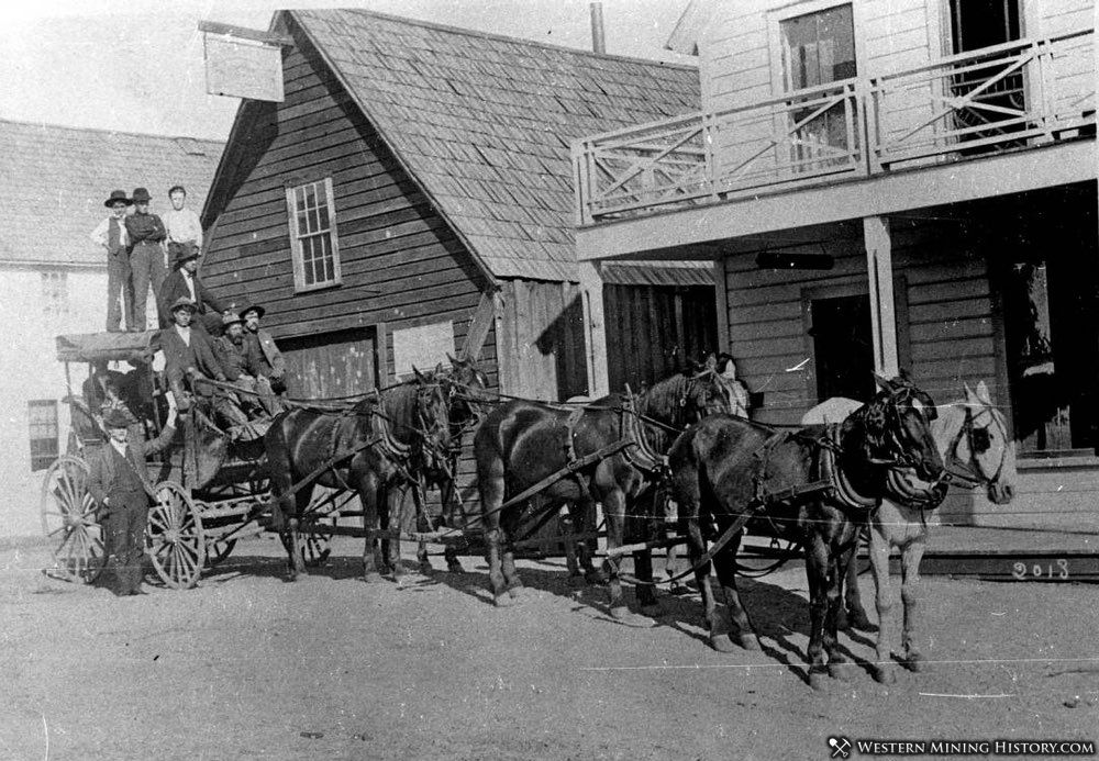 Stagecoach at La Porte California ca. 1905