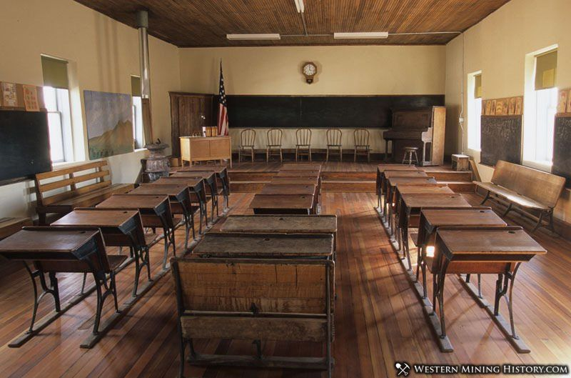 Restored school house at Lake Valley, New Mexico