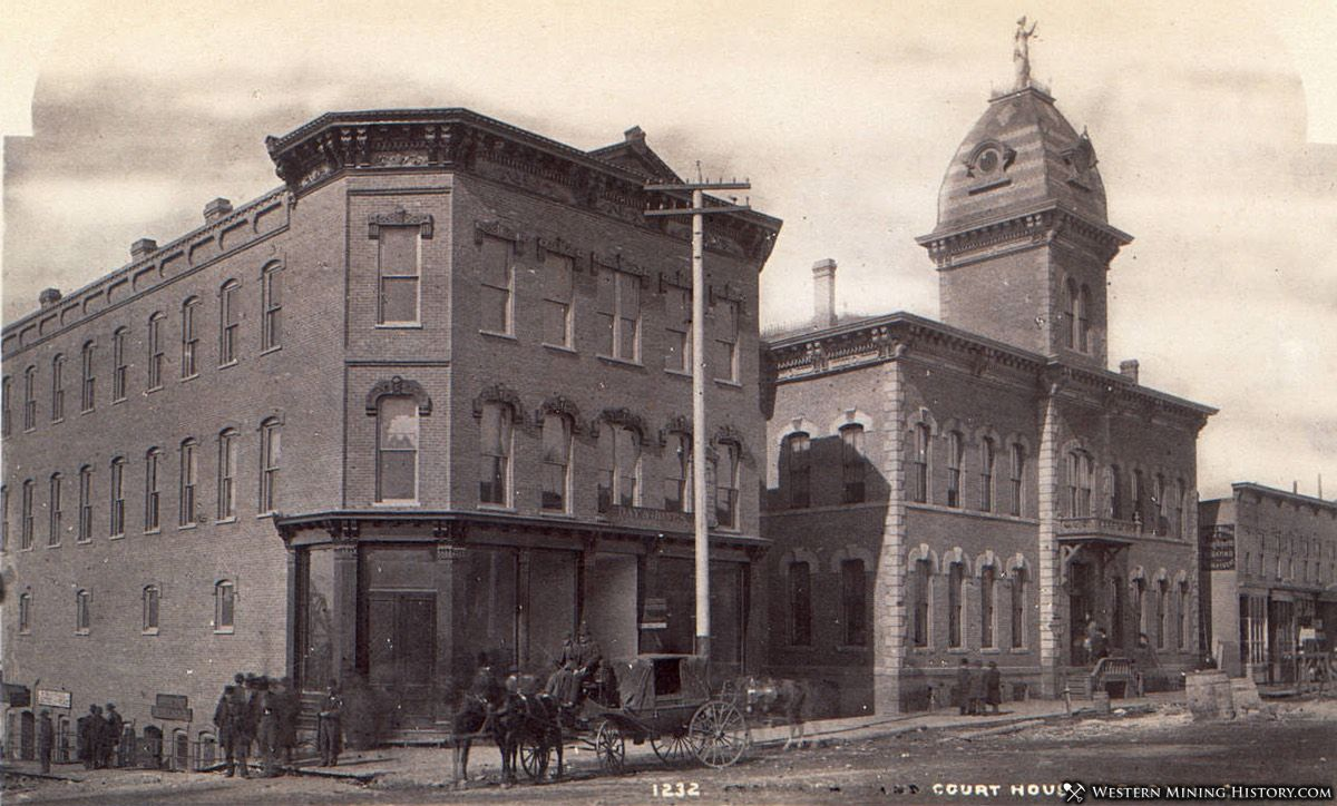 Lake County Courthouse in Leadville 1880s