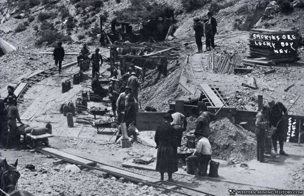 Miners working at Lucky Boy, Nevada
