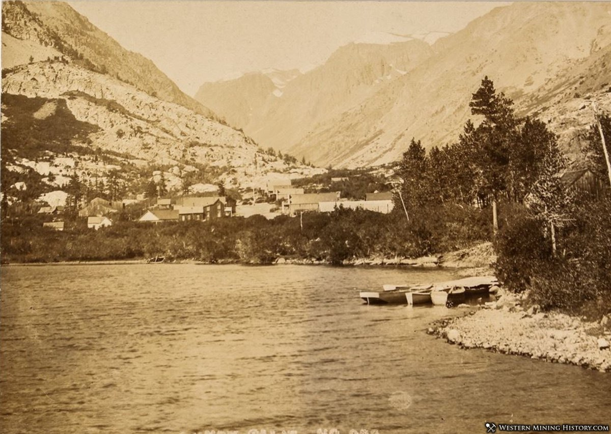 Lundy, California seen on the shore of Lundy Lake around 1910