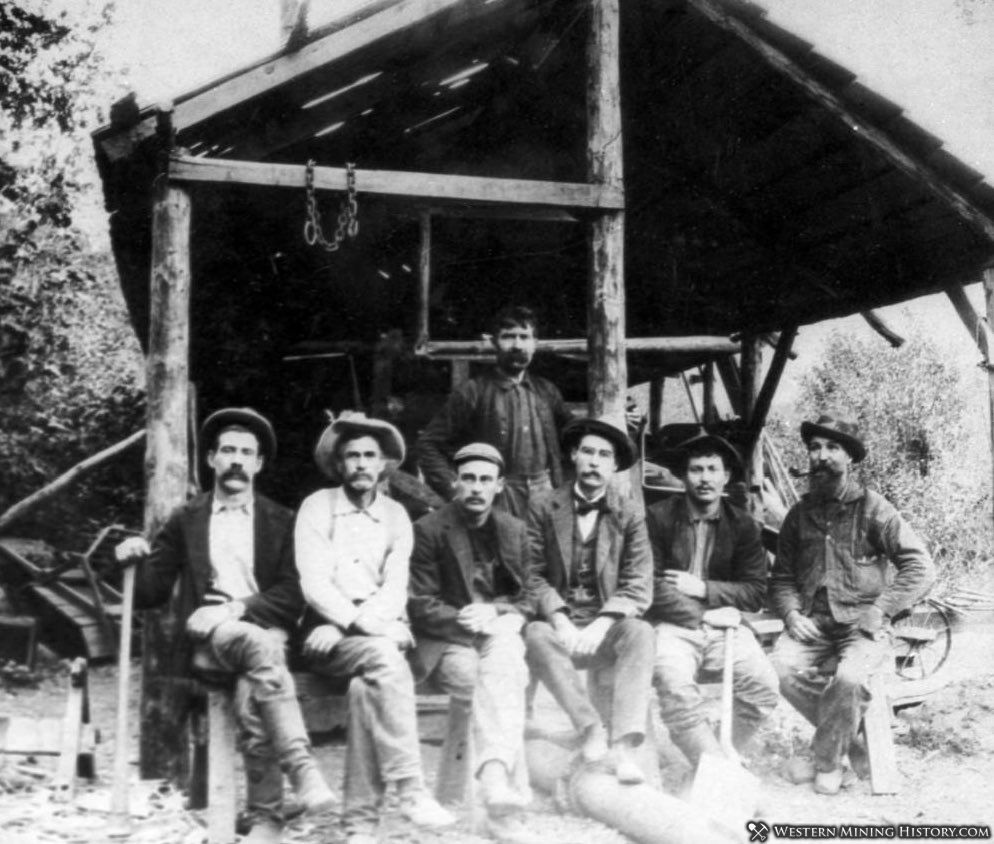 Miners at Rich Bar ca. 1900