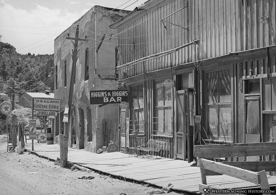 Main Street in Mogollon New Mexico 1940