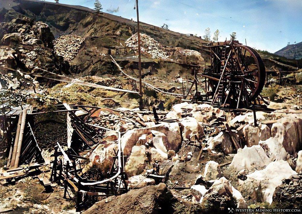 Placer mine at Murphys California