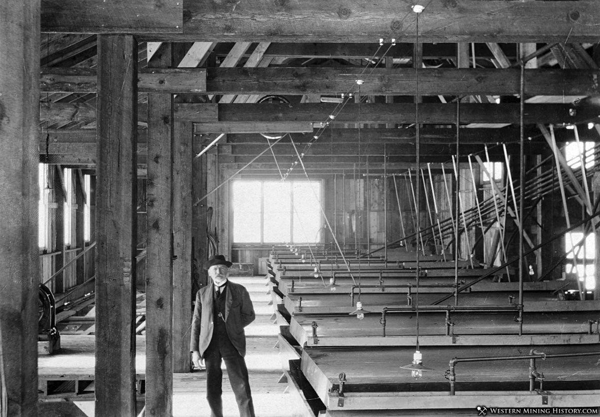 Wilfley tables at the Nashota Mill - Silver Plume, Colorado