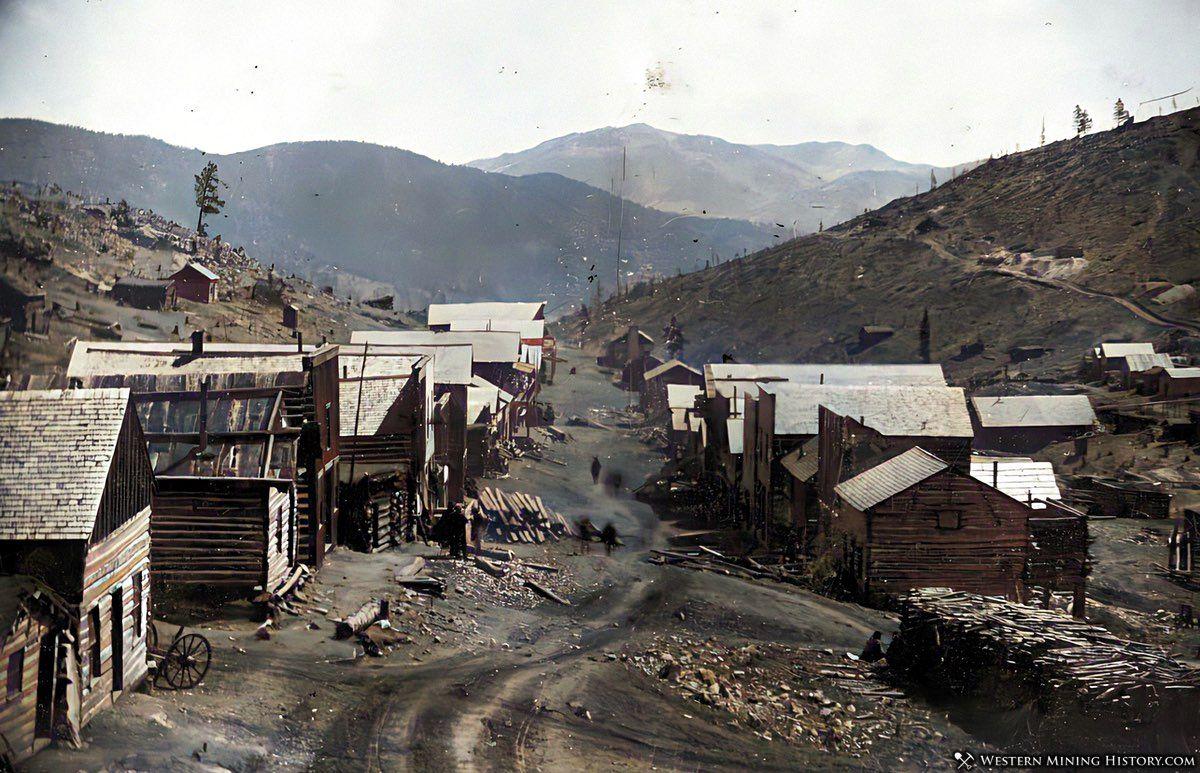 Enhanced image of Nevadaville, Colorado ca. 1860