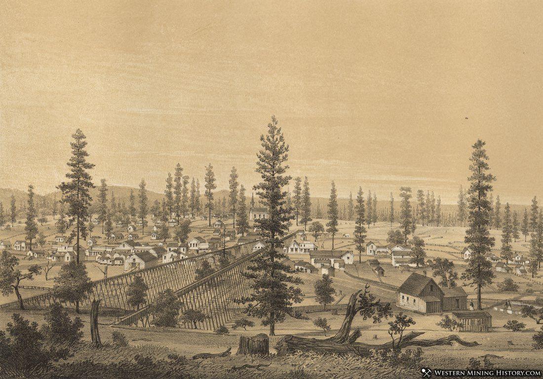 Illustration of North San Juan in 1858