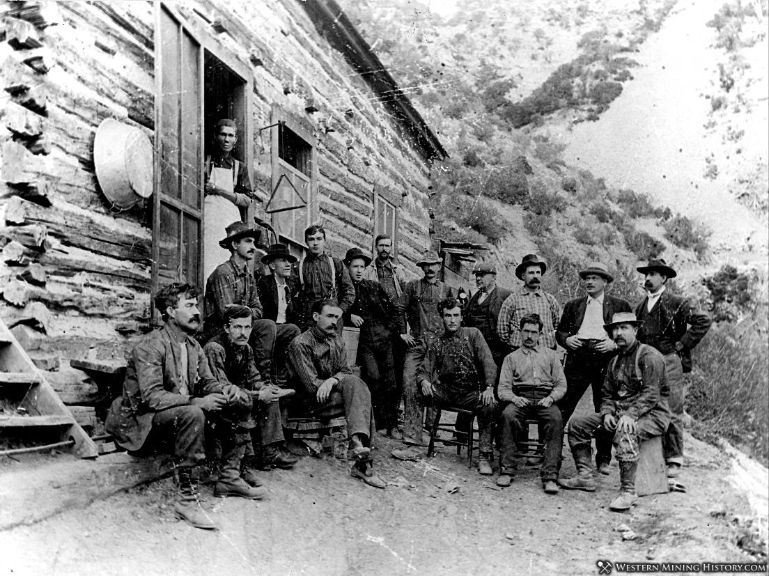 Boarding house at Buckhorn Mine - Ophir, Utah 1903