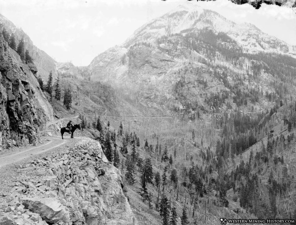 Otto Mears toll road south of Ouray ca. 1890