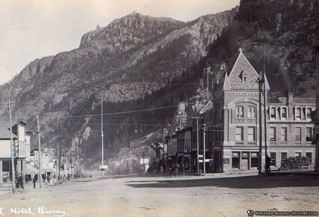 Ouray, Colorado with Beaumont Hotel on Right ca. 1890