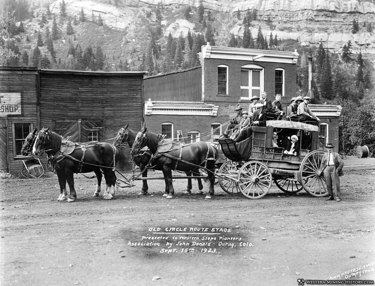 Old Circle Route Stage - Ouray, Colorado 1923