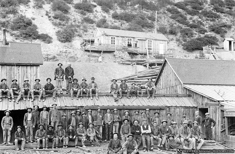 Owyhee Trade Dollar Mine - Silver City, Idaho ca. 1900