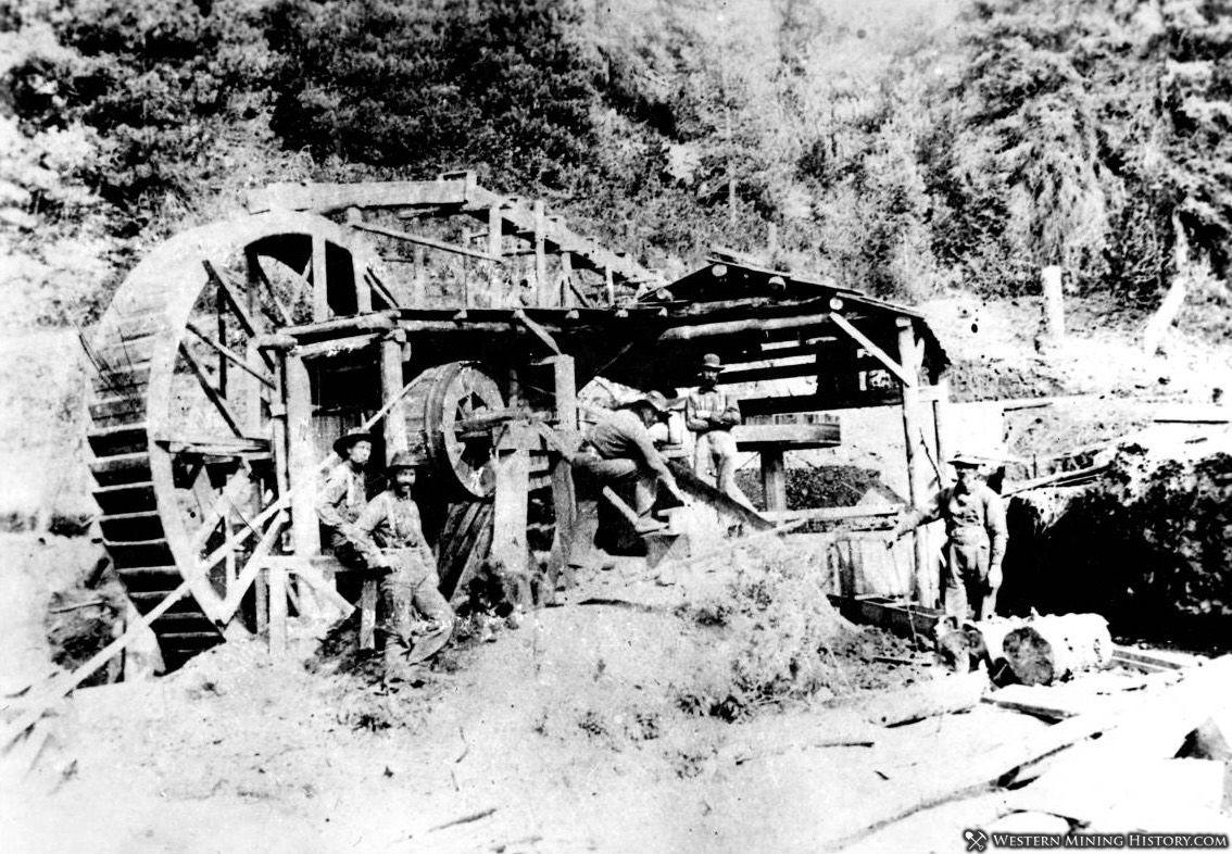 Water powered arrastra on Silver Creek near Pierce, Idaho 1893