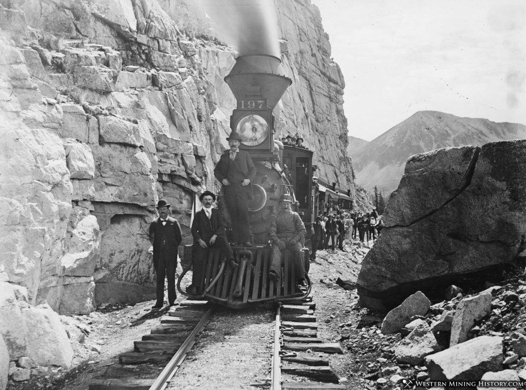 Excursion train near Pitkin ca. 1895