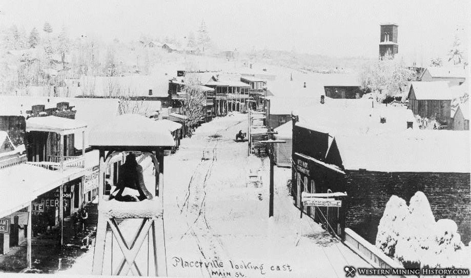 View of Placerville in the 1860s