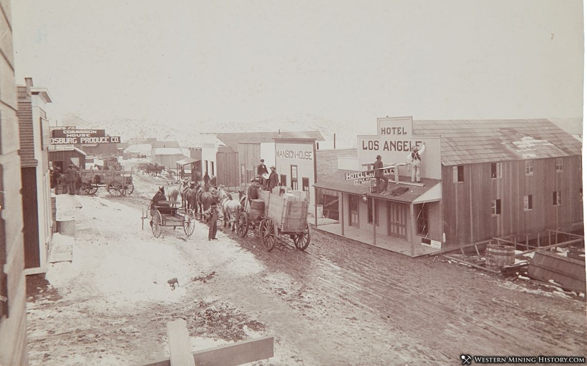 Intersection of Broadway and Butte Avenues Randsburg 1897