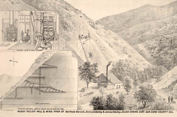 The Ready Relief Mine -  San Diego County - as it appeared ca. 1880