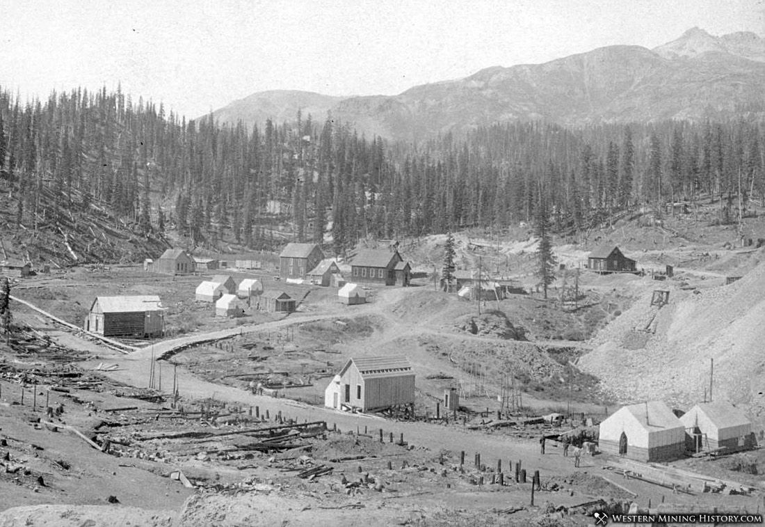 Red Mountain Town rebuilds after a fire in 1892
