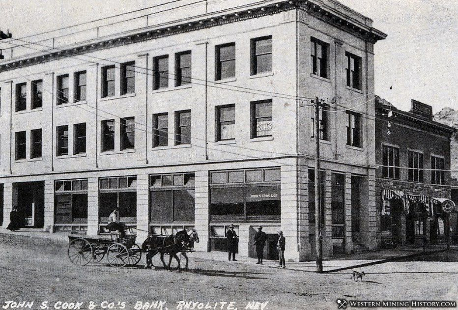 Cook Bank building in Rhyolite 1909